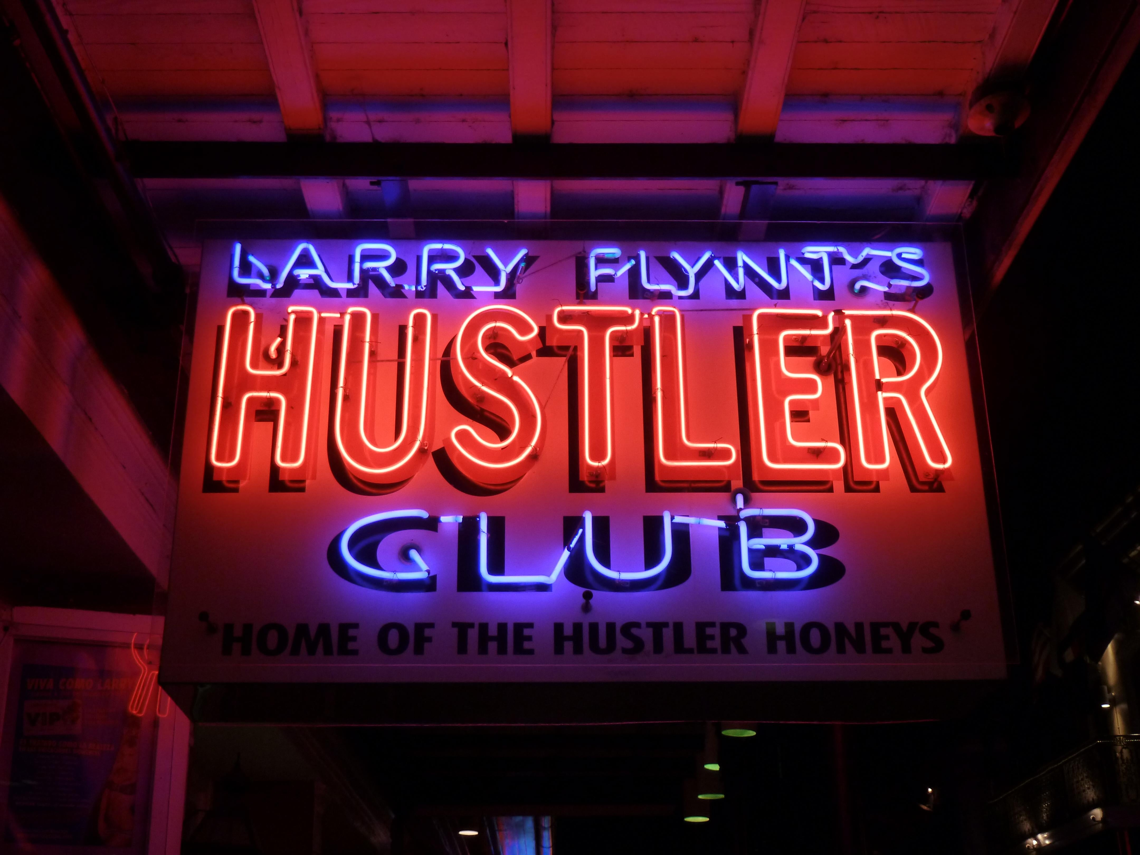 Clearly cost of admission for hustler clubs