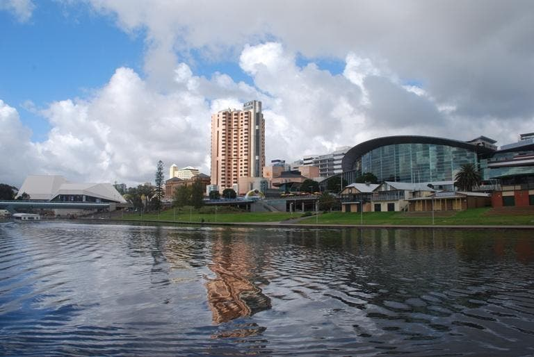 Skyline en Adelaide Convention Centre
