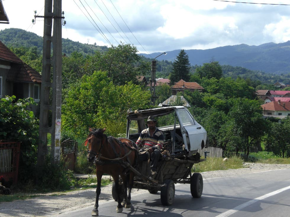 Horse And Buggy in Curtea de Arges