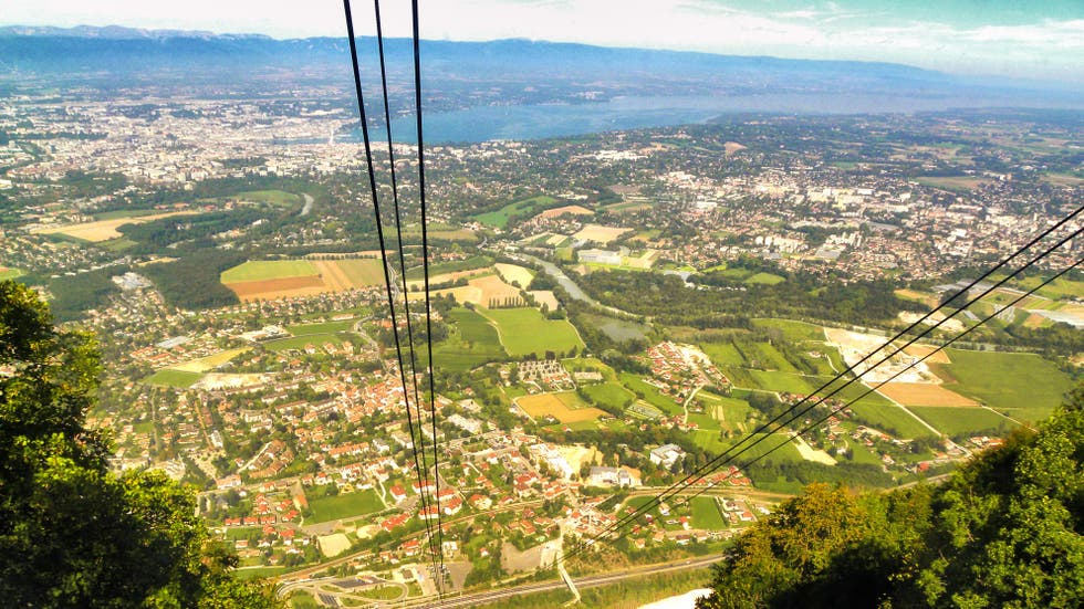 Geneva from the cable-car
