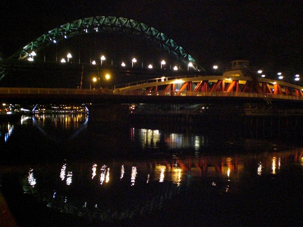Night in Newcastle Upon Tyne
