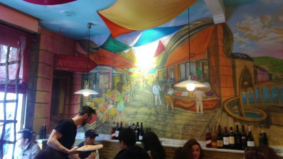 Fotos de mural en restaurante el pizzaiolo madrid 9273209 for El mural restaurante puebla