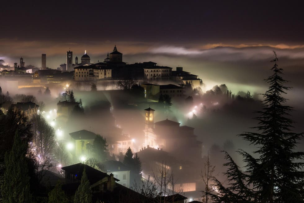 Night in Bergamo