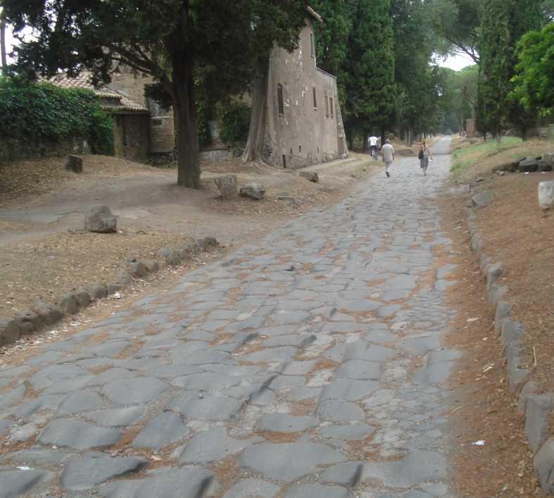 Carretera en Vía Appia