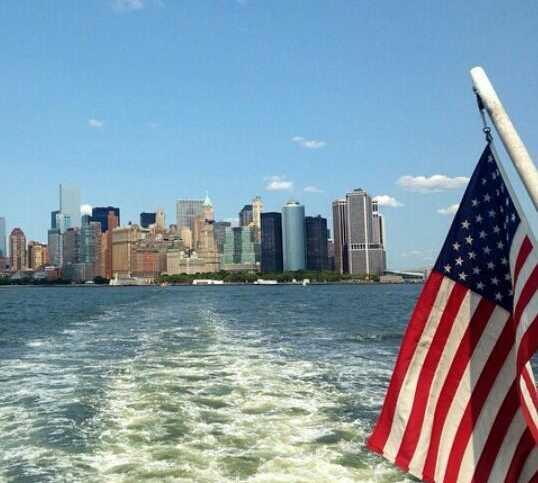 Skyline en Staten Island Ferry