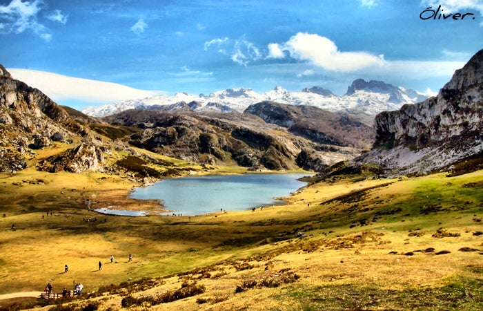 Lake in The Lakes of Covadonga - Enol and Ercina lakes