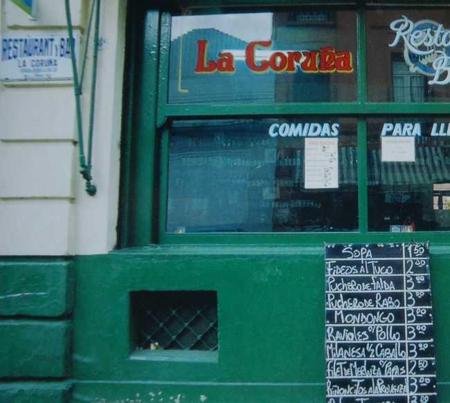 Verde en Restaurante La Coruña (barrio de San Telmo)